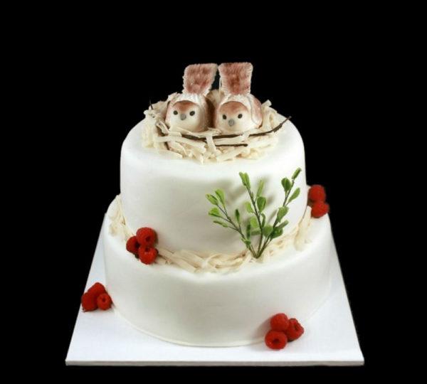 Свадебный торт Любовное гнездышко