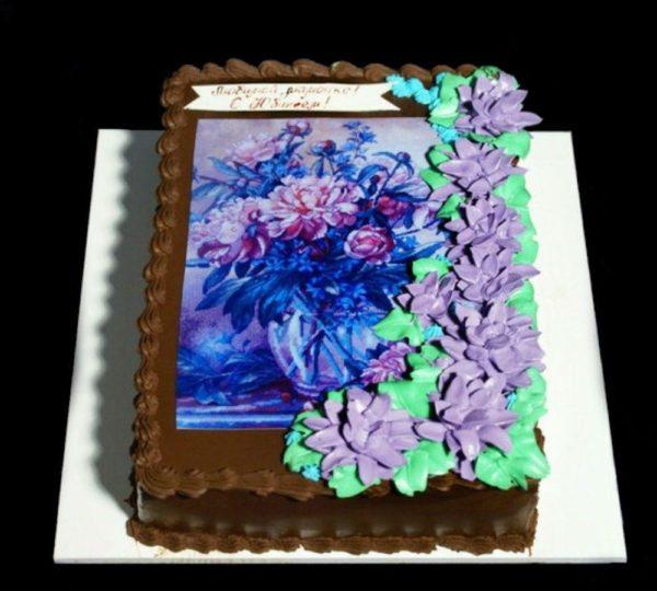 Торт с фотографией №12
