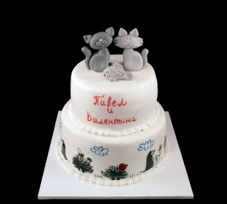 Свадебный торт с котами