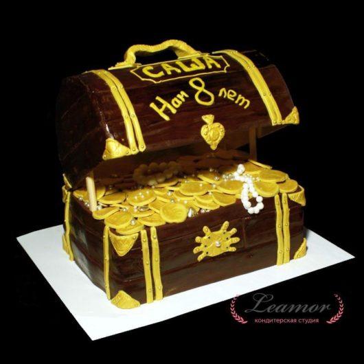 Торт сундук с сокровищами