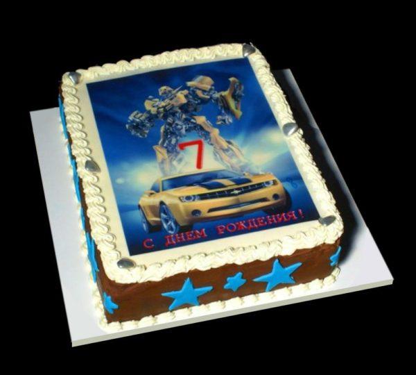 Торт с фотографией №16