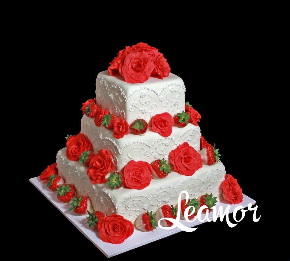 Яркий свадебный торт