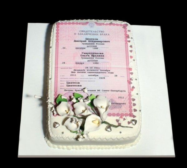 Торт с фотографией №19
