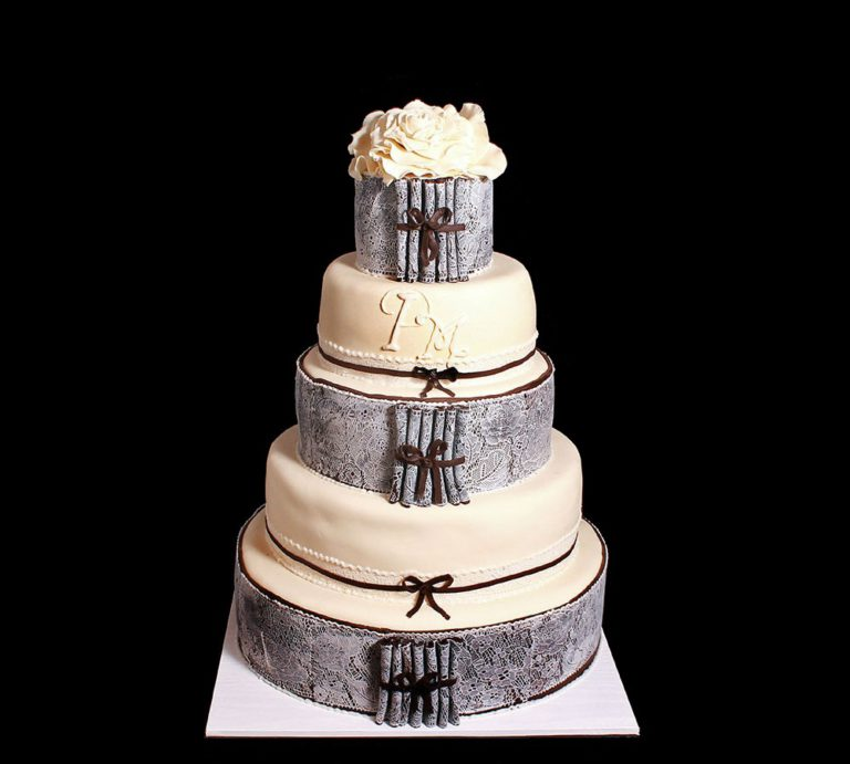 Свадебный торт в стиле Винтаж