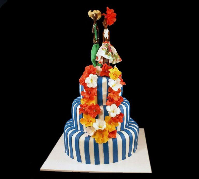 Свадебный торт в кубинском стиле