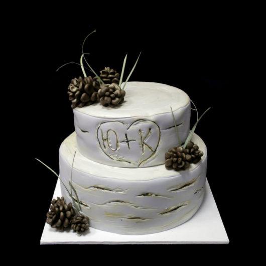 Свадебный торт с Шишками