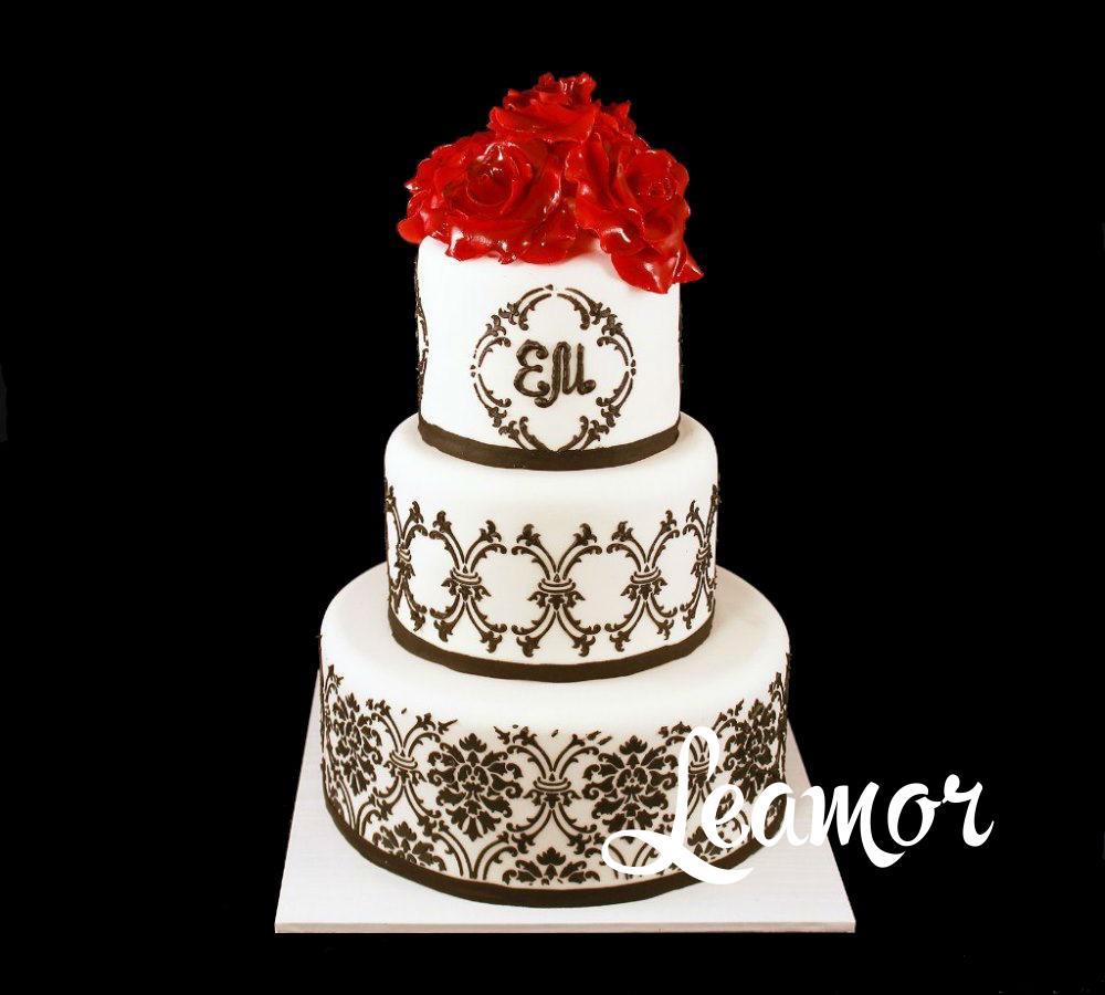 Свадебный торт в стиле Дамаска