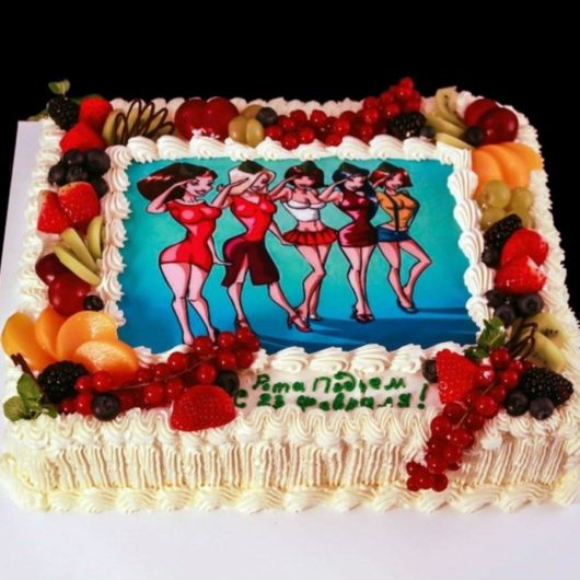Торт с фотографией №7