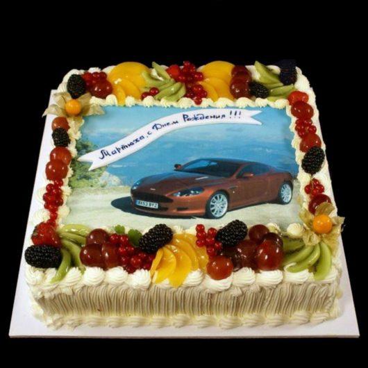 Торт с фотографией №8