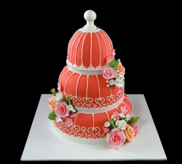 Свадебный торт Шебби шик