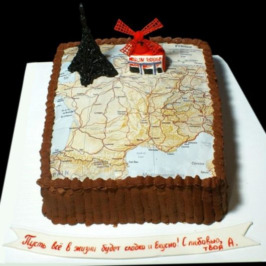 Торт с фотографией №10