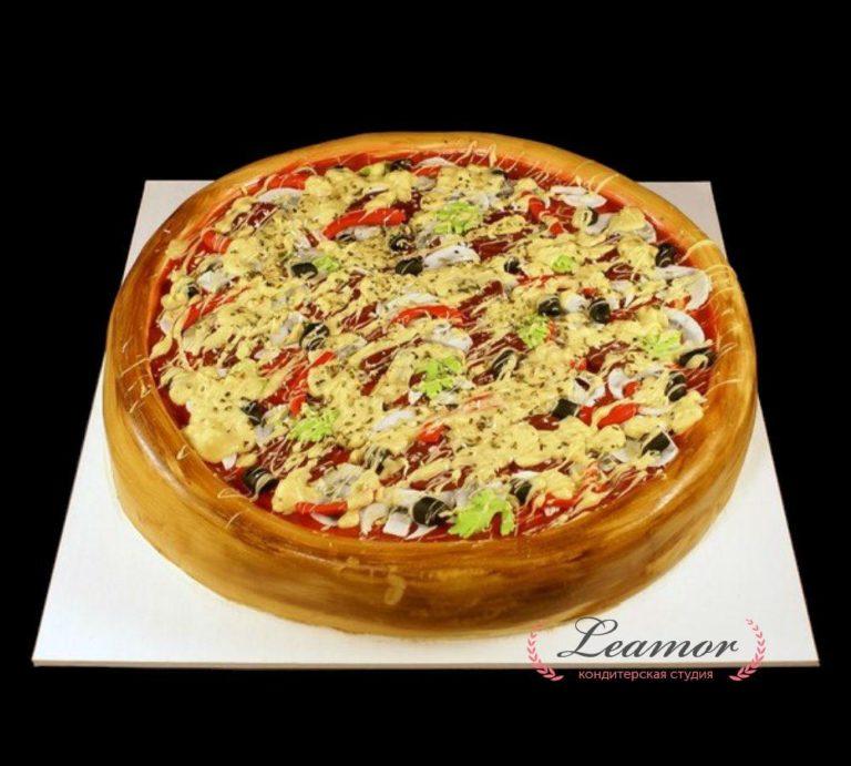 Торт в виде пиццы