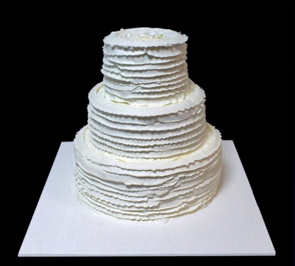 Кремовый свадебный торт
