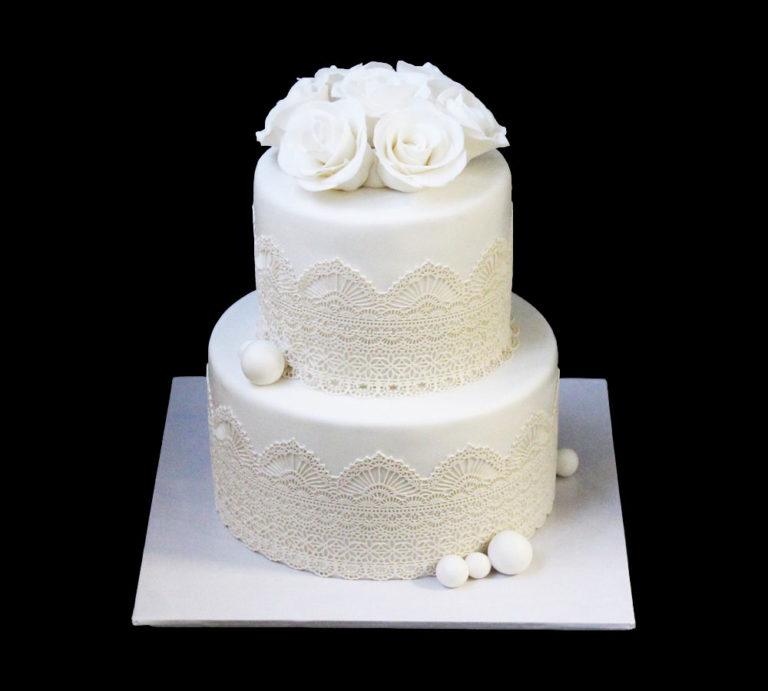 Свадебный торт Белое сияние