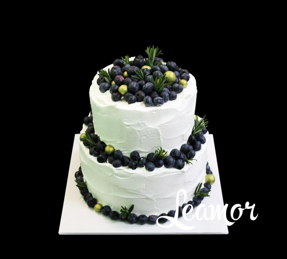 Свадебный торт Черничная поляна
