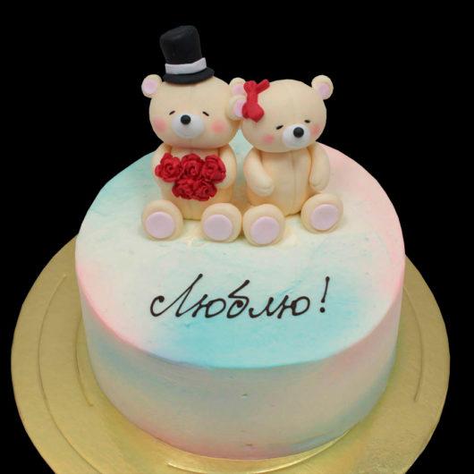 Торт с медвежатами