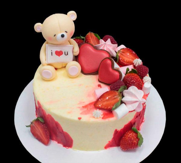 Торт мишка на 14 февраля
