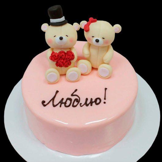 Торт мишки и глазурь