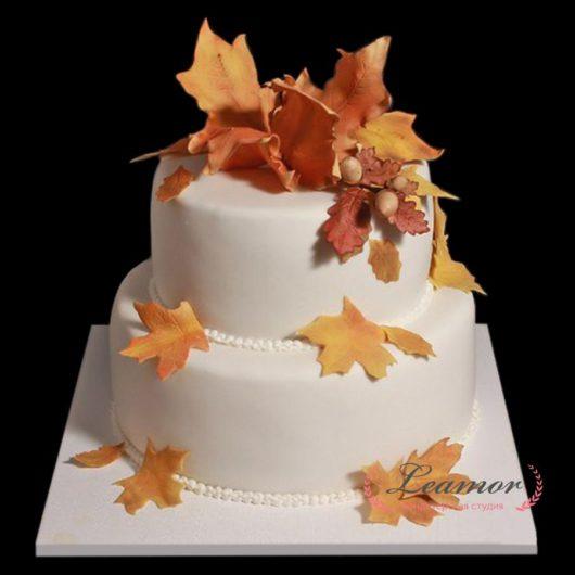 Свадебный торт в осеннем стиле